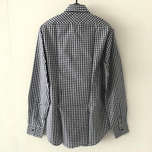 ZARA(ザラ)の【新品】ZARA MAN  チェックシャツ  長袖  ホワイト ネイビー メンズのトップス(シャツ)の商品写真