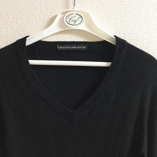 Balenciaga(バレンシアガ)のBALENCIAGA バレンシアガ ニット トップス 黒 PRADA プラダ レディースのトップス(ニット/セーター)の商品写真