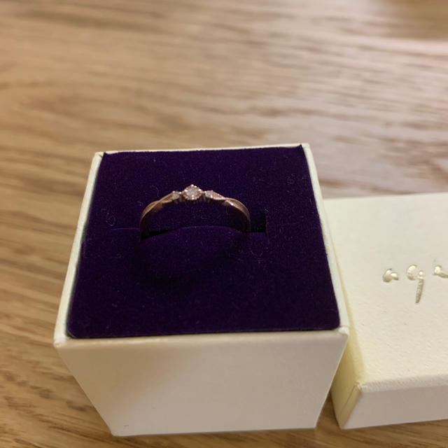 agete(アガット)のアガット  K10 ダイヤモンド リング★10金 レディースのアクセサリー(リング(指輪))の商品写真