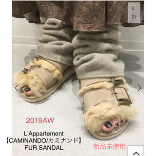 L'Appartement DEUXIEME CLASSE - 【新品】L'Appartement  CAMINANDO FUR SANDAL