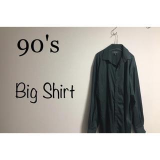90's 古着 オーバーサイズ  ビッグシャツ  ユニセックス モード