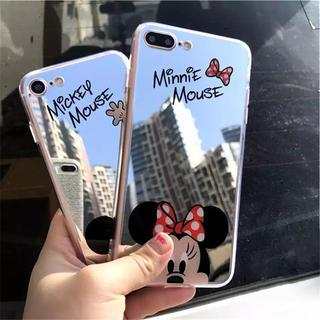 新品☆ミッキー ミニー ミラーケース iPhone7plus/8plusケース