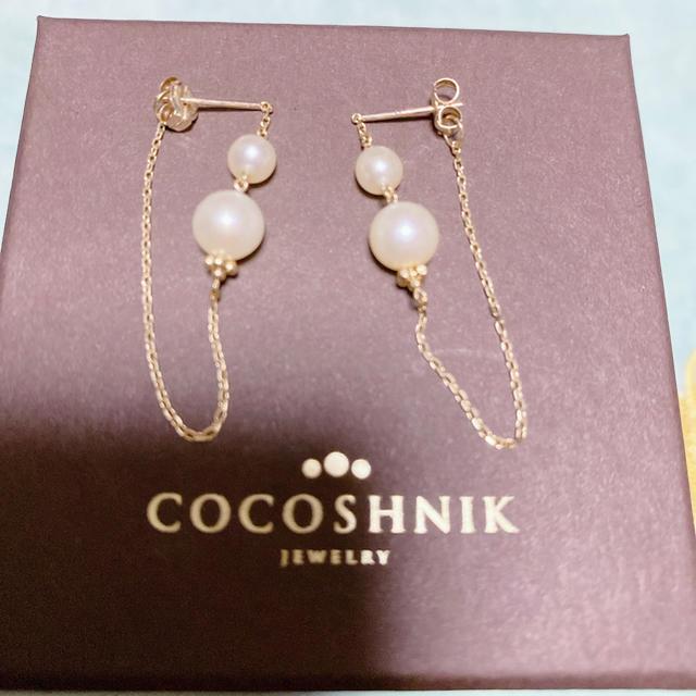 COCOSHNIK(ココシュニック)のCOCOSHNIKパールピアス レディースのアクセサリー(ピアス)の商品写真