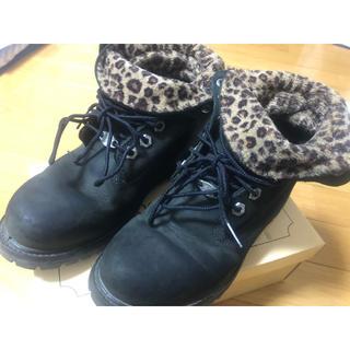 ティンバーランド(Timberland)のTimberland ブーツ 靴 黒 豹柄(ブーツ)