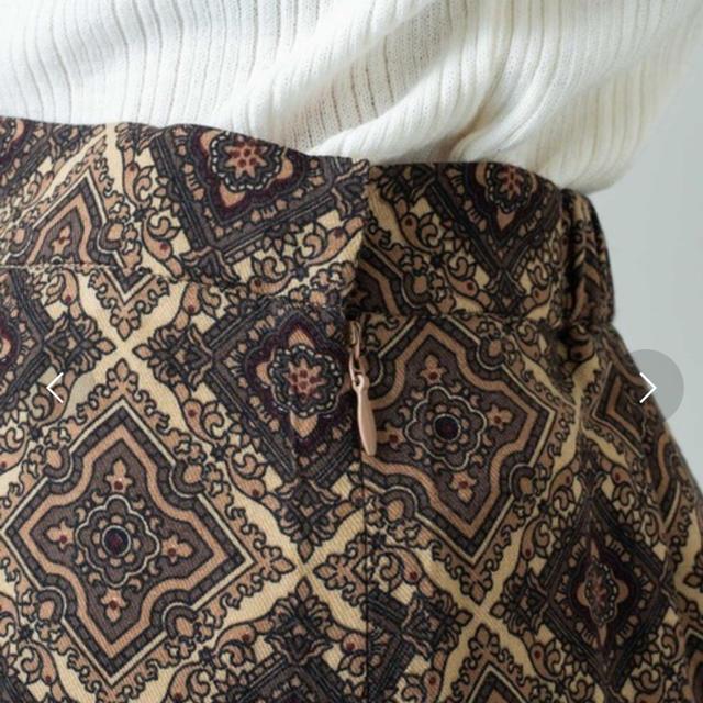 Kastane(カスタネ)の〈完売品〉総柄Iラインスカート レディースのスカート(ロングスカート)の商品写真