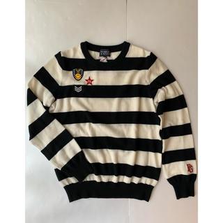 PEARLY GATES - パーリーゲイツ ニコちゃんワッペン付きカシミア混セーター