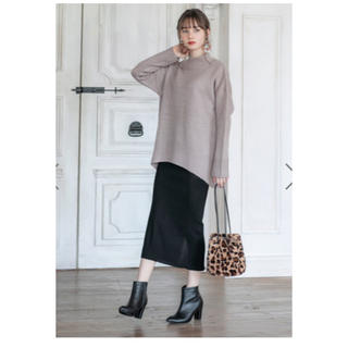 GRL - ニットスカート 黒 スリット