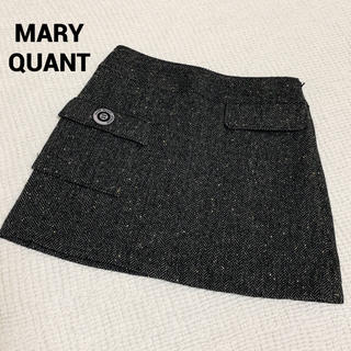 MARY QUANT - 未使用 MARYQUANT ボタン付ミニスカート マリークワント