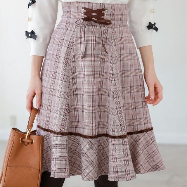 tocco(トッコ)のtocco チェックフリルスカート レディースのスカート(ひざ丈スカート)の商品写真