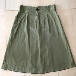 オペーク(OPAQUE)のOPAQUE カーキスカート(ひざ丈スカート)