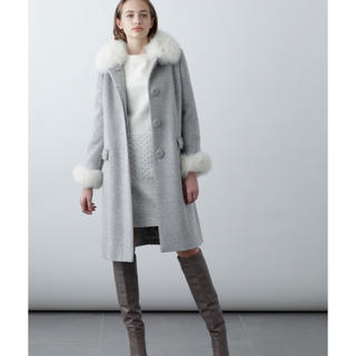グレースコンチネンタル(GRACE CONTINENTAL)の新品タグ付き グレースコンチネンタル   FOXファー 刺繍ポケットコート(ロングコート)