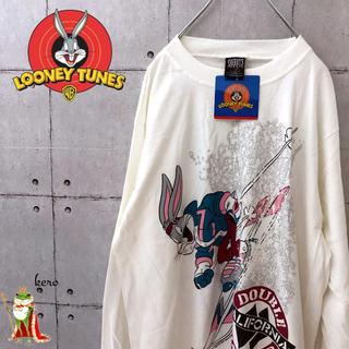 【激レア】USA製 90s デッドストック ルーニーテューンズ 長袖Tシャツ