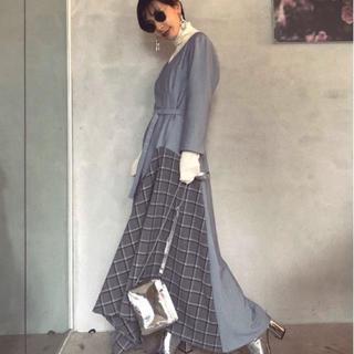 アメリヴィンテージ(Ameri VINTAGE)の× AMERI LADY BRITISH LIKE DRESS 新品タグ付き(ロングワンピース/マキシワンピース)