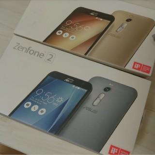 エイスース(ASUS)のZenFone2 Silver 32GB ZE551ML-GY32S4 シルバー(スマートフォン本体)