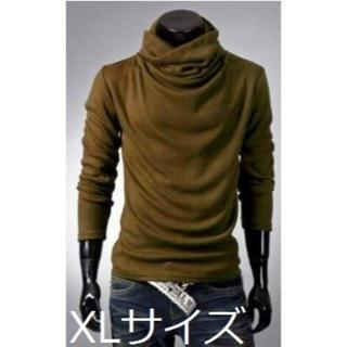 【コーヒー/XL】 アフガンタートルネック(Tシャツ/カットソー(七分/長袖))
