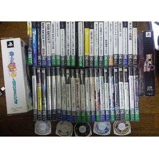プレイステーションポータブル(PlayStation Portable)のPSPソフト51本 + PSP裏ディスク(携帯用ゲームソフト)