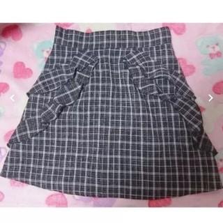evelyn - アンミール チェック柄台形スカート