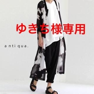 アンティカ(antiqua)のアンティカ 花柄 ロングカーディガン(カーディガン)