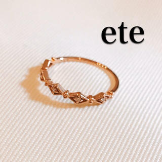 エテ(ete)の【エテ】ete*7号*K10*5粒ダイヤ*0.04*リング*指輪*ピンクゴールド(リング(指輪))