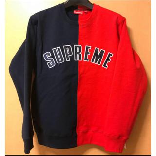 Supreme - 土日限定安売り!supreme split crewneck