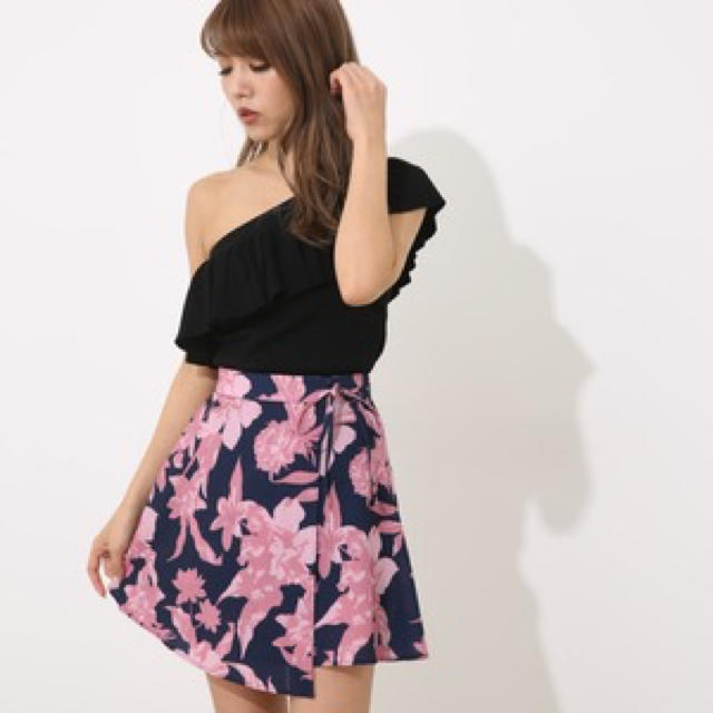 rienda(リエンダ)のrienda❤︎ Shadow Flower J/WフレアSK レディースのスカート(ミニスカート)の商品写真