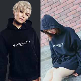 GIVENCHY - 新品 19-20AW ジバンシー ブラック ディストレス ロゴ フーディー