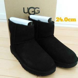 UGG - 【24.0㎝】新品未使用☆UGG CLASSIC MINI II ブラック