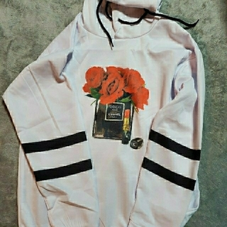 ZARA - 韓国ファッション オーバーサイズ パーカー ホワイト