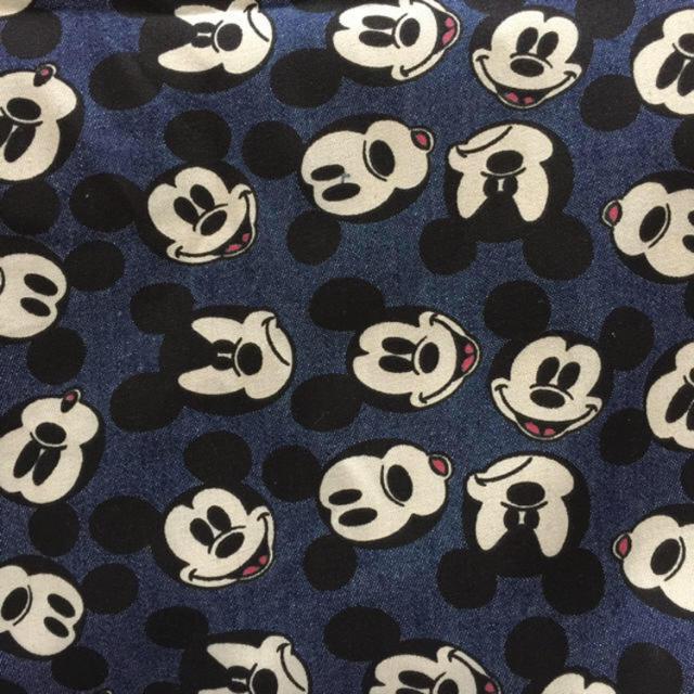 Disney(ディズニー)のディズニー ミッキー しっかりめデニム生地 ハンドメイドの素材/材料(生地/糸)の商品写真
