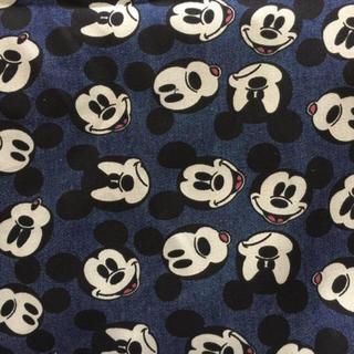 Disney - ディズニー ミッキー しっかりめデニム生地