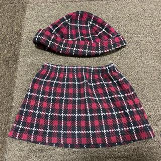 アニエスベー(agnes b.)のアニエスベー 女の子等 帽子 ミニスカート セット(スカート)