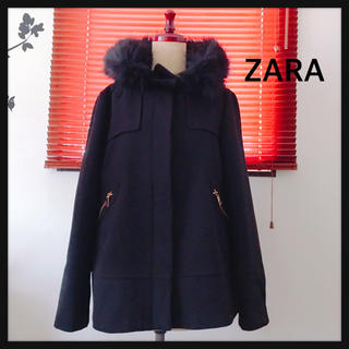 ZARA - ZARA  ブラックファー付きコート