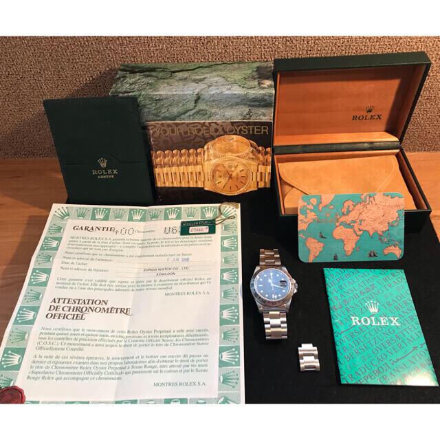 ROLEX(ロレックス)の付属品充実! ロレックス エクスプローラー2 オールトリチウム U番 16570 メンズの時計(腕時計(アナログ))の商品写真