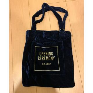オープニングセレモニー(OPENING CEREMONY)のopening ceremony ベロア トート ネイビー(トートバッグ)