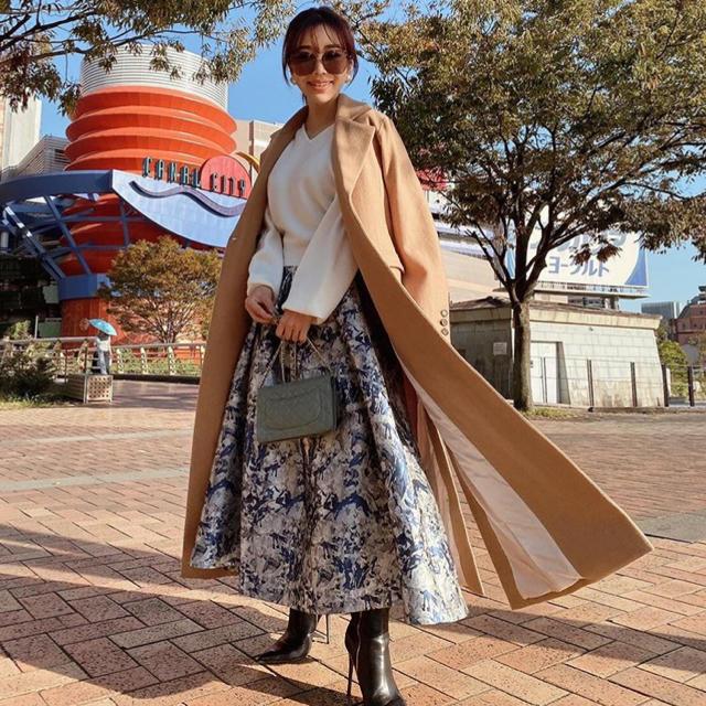 eimy istoire(エイミーイストワール)のeimy istoire ジャガードスカートコンビニットワンピース レディースのワンピース(ロングワンピース/マキシワンピース)の商品写真