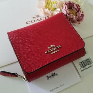 COACH - 新品 ★COACH コーチ★ 三つ折財布 (赤)