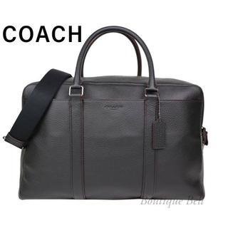 コーチ(COACH)のコーチ ペブルレザー キャリーオール ボストンバッグ ブラック(ボストンバッグ)