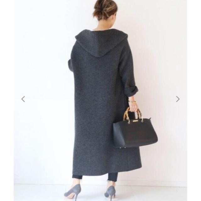 DEUXIEME CLASSE(ドゥーズィエムクラス)のadawas knit gawn グレー美品★Deuxieme Classe レディースのジャケット/アウター(ガウンコート)の商品写真
