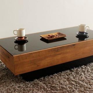 売り切れ 日本製 センターテーブル(ローテーブル) 幅105cm×奥行55cm (ローテーブル)