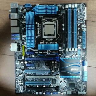 エイスース(ASUS)の【またまた値下げ!】マザーボード+CPU+メモリ+CPUクーラー4点セット!!(PCパーツ)