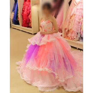 ココメロディ カラードレス  ピンク ウエディング(ウェディングドレス)