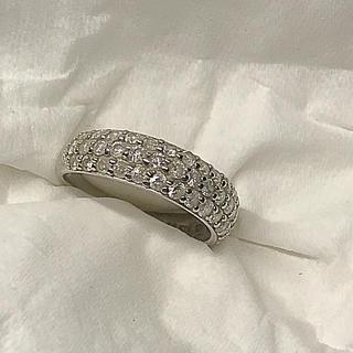 K18WG ダイヤ 1カラット❗️18金ホワイトゴールドリング(リング(指輪))