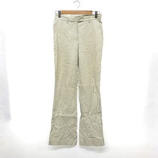 セオリー(theory)のTheory セオリー レディース ストライプ パンツ サイズ 2 M 白(カジュアルパンツ)