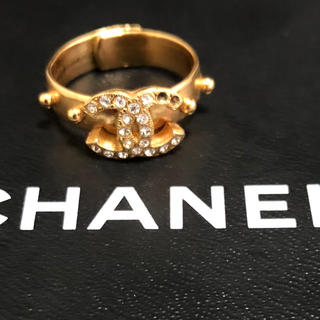 CHANEL - 【送料無料】正規品 シャネル  ゴールド ストーン  リング 刻印あり