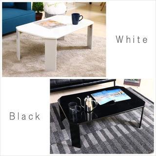新品 特価!折りたたみ ローテーブル 幅75cm ホワイト UV塗装(ローテーブル)