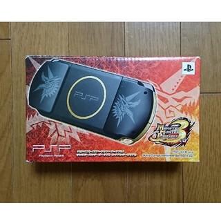 プレイステーションポータブル(PlayStation Portable)のPSP 3000 限定 モンスターハンター モンハン モデル(携帯用ゲーム機本体)
