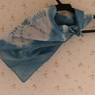 藍染スカーフ定価は1600円★淡い(バンダナ/スカーフ)