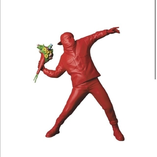 MEDICOM TOY - banksy flower bomber (RED ver.)