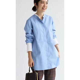 IENA -  IENA バンドカラーロングシャツ