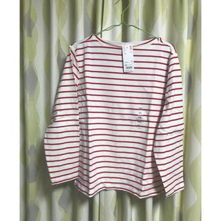 ユニクロ(UNIQLO)のユニクロのボーダーボートネックTシャツ(Tシャツ(長袖/七分))